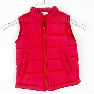 NWT NURSEY RHYME PLAY Puffer Vest Red 24M